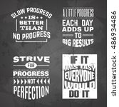 vector motivational ... | Shutterstock .eps vector #486934486
