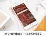 paris  france   sep 16 2016 ... | Shutterstock . vector #486934852