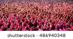 madrid   sep 12  crowd in a... | Shutterstock . vector #486940348