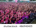 madrid   sep 12  crowd in a... | Shutterstock . vector #486940405