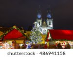 Old Town Square With Christmas...
