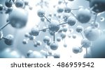 abstract molecule background  ... | Shutterstock . vector #486959542