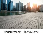 singapore at dusk | Shutterstock . vector #486963592