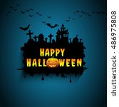 halloween card. | Shutterstock .eps vector #486975808