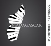 madagascar map logo made from...   Shutterstock .eps vector #486980302