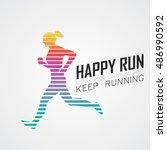 run  running poster | Shutterstock .eps vector #486990592