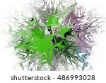 abstract digital painting... | Shutterstock . vector #486993028