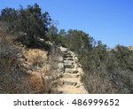 steep staircase leading up a... | Shutterstock . vector #486999652