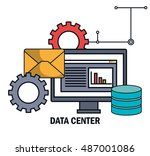 data center email work isolated | Shutterstock .eps vector #487001086