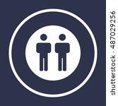 people  icon vector. flat... | Shutterstock .eps vector #487029256