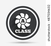 a class ventilation icon.... | Shutterstock .eps vector #487034632