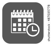 the calendar icon. reminder and ... | Shutterstock . vector #487035778