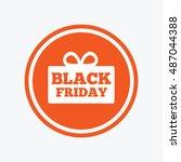 black friday gift sign icon.... | Shutterstock .eps vector #487044388