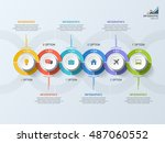 timeline business infographic... | Shutterstock .eps vector #487060552