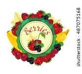berries and fruit. label....   Shutterstock .eps vector #487075168