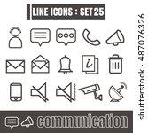 icons set communication line...