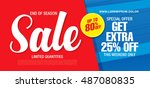 sale banner template design | Shutterstock .eps vector #487080835