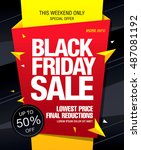 black friday sale banner | Shutterstock .eps vector #487081192
