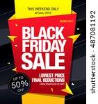 black friday sale banner | Shutterstock .eps vector #487081192