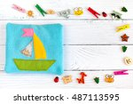 children's toy made of colored... | Shutterstock . vector #487113595