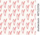 abstract seamless heart pattern.... | Shutterstock .eps vector #487121926