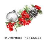 Glass Ball  Mistletoe  Strobil...