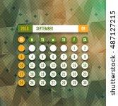 september 2017 full calendar... | Shutterstock .eps vector #487127215