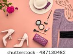 fashion woman clothes... | Shutterstock . vector #487130482