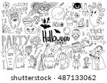 graphic elements for halloween... | Shutterstock .eps vector #487133062