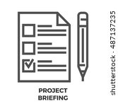 project briefing thin line... | Shutterstock .eps vector #487137235