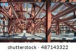 metal construction. stadium... | Shutterstock . vector #487143322
