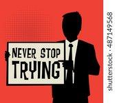 man showing board  business...   Shutterstock .eps vector #487149568