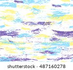 pattern of colorful brush... | Shutterstock .eps vector #487160278