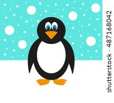 cheerful penguin | Shutterstock .eps vector #487168042