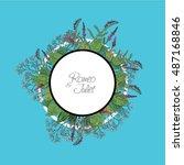 vector wildflowers for books ... | Shutterstock .eps vector #487168846