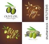 olive oil vector illustration ... | Shutterstock .eps vector #487175545