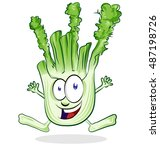 cartoon happy fennel character... | Shutterstock .eps vector #487198726