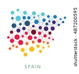 dotted texture spain vector... | Shutterstock .eps vector #487200595