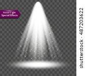 light effect  sun rays  beams... | Shutterstock .eps vector #487203622