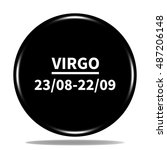 virgo icon. internet button.3d...