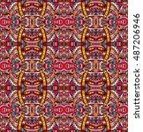 ethnic festive pattern for... | Shutterstock .eps vector #487206946