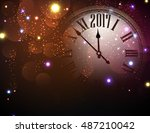 2017 new year color background... | Shutterstock .eps vector #487210042