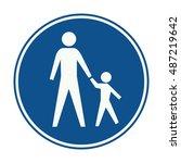 netherlands pedestrians only...   Shutterstock .eps vector #487219642