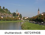river through salzburg | Shutterstock . vector #487249408