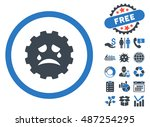 gear tears smiley icon with... | Shutterstock .eps vector #487254295