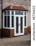 uPVC French Doors fitted in Bay - stock photo