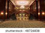 carpet leading to twin curving... | Shutterstock . vector #48726838