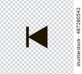 previous track icon vector ...