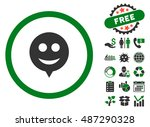 smile hint icon with free bonus ... | Shutterstock .eps vector #487290328