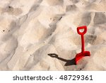 Children Red Blade In The Sand...